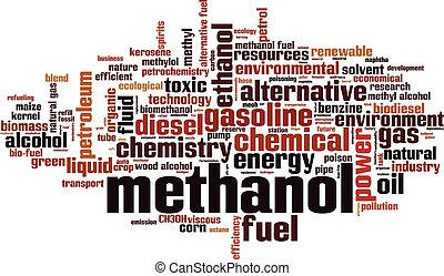 Methanol word cloud concept Vector illustration