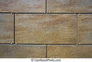 Ceramic granite wall tiling. Close up