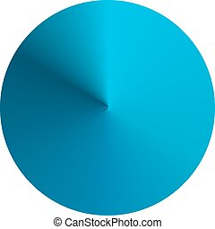 Circular round gradient in shades of blue