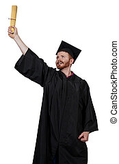 Graduate - Young man in his graduation robes