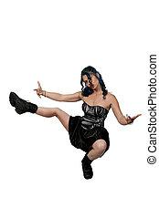 Woman Dancing - Beautiful young woman dancing the night away