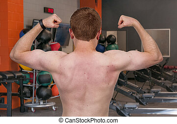 Fitness Man - Beautiful attractive young fit muscular man...