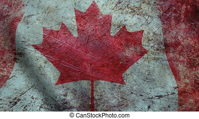 Realistic Ultra-HD flag of the Canada waving in the wind....