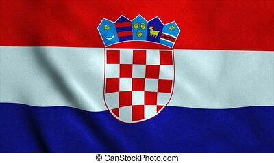 Realistic Ultra-HD flag of the Croatia waving in the wind....