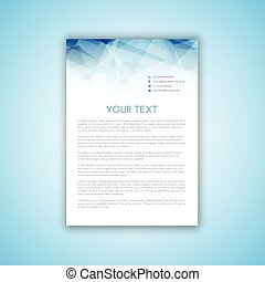 letterhead template 2406 - Layout design for a business...