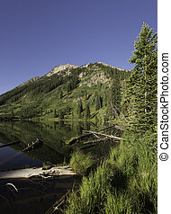 East Dollar Lake near Crested Butte is in Gunnison National...
