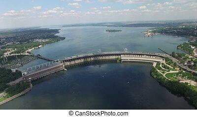 Flying over the HPP - Flying over the hydroelectric power...
