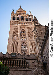 Giralda Tower of the Seville Cathedral - The Giralda - bell...