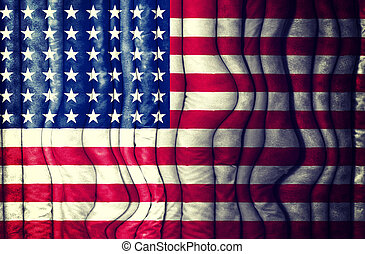 Abstract American flag as the background