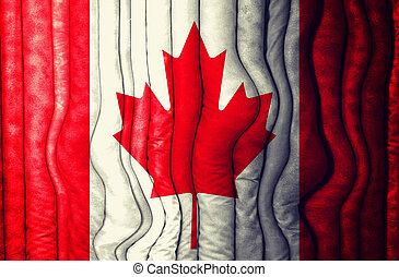 Abstract Canadian flag as the background
