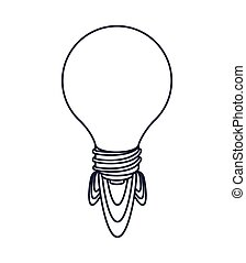 idea launcher bulb isolated icon design, vector illustration...