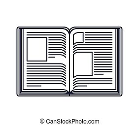 text book open isolated icon design, vector illustration...