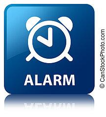 Alarm blue square button