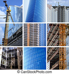 collage of big construction