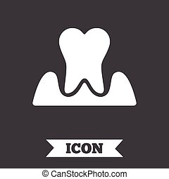 Parodontosis tooth sign icon Dental care symbol -...