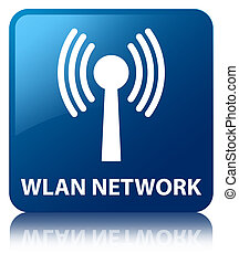 Wlan network blue square button