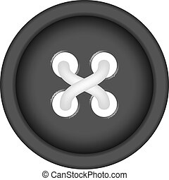Sewing button with sewing thread - Sewing button in black...