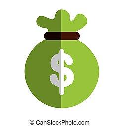 money sack icon - colorfil money sack object icon vector...