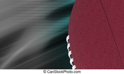 Football backgrounds blue gray loop - Looping football...