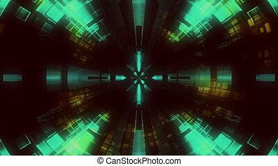 Abstract tunnel VJ loop