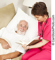 Home Health - Reading - Patient enjoys listening to a story...