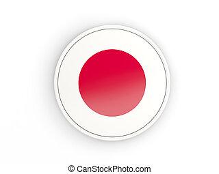 bandeira, de, Japão, redondo, ícone, com,...