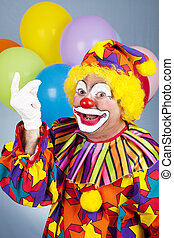 Clown Snapping Fingers