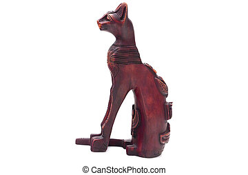 The subject on a white background - The Egyptian cat The...
