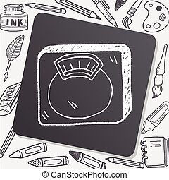 weight scale doodle
