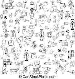 School vector big doodles