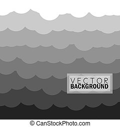 wave of clouds background in grey - vector graphic...