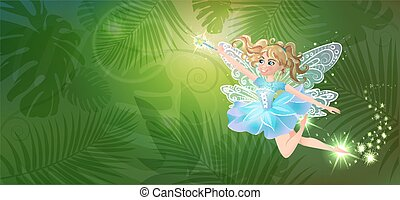 magic forest fairy