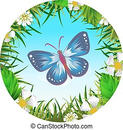 Butterfly in a clearing 2