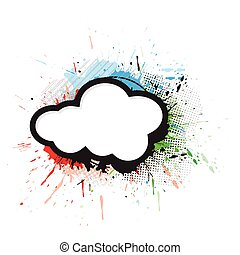 abstract artistic design wirh grunge cloud, vector...