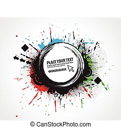 abstract composition - abstract grunge vector composition...
