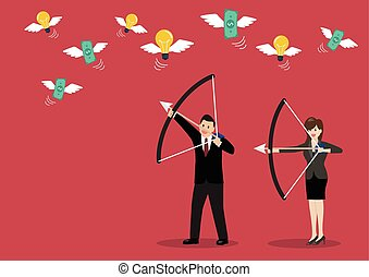 Business trick betray meanness situation concept Vector...