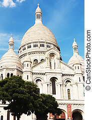 Sacre Couer Cathedral in Montmartre district, Paris, France