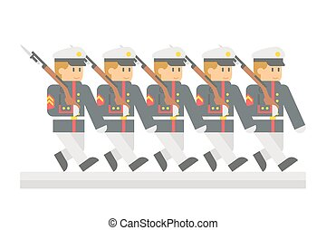 Flat design military parade illustration vector