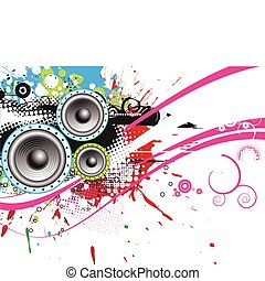 music theme - abstract grunge music theme for more vector...