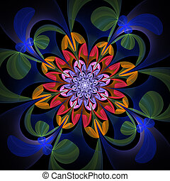 Fabulous multicolored flower pattern You can use it for...