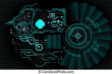 CPU - abstract technology background