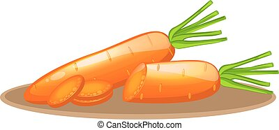 carrot elements with slices