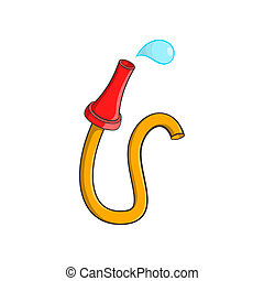 Fire hose icon, cartoon style - Fire hose icon in cartoon...