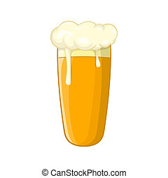 Glass of beer icon, cartoon style - Glass of beer icon in...