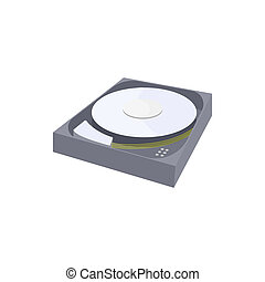 HDD icon in cartoon style - icon in cartoon style on a white...