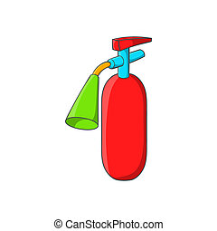 Fire extinguisher icon, cartoon style - Fire extinguisher...