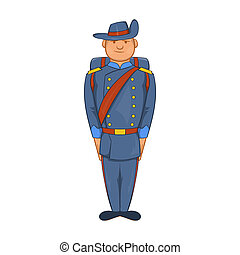Man in a blue army uniform 19th century icon - icon in...