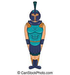 Ancient Egyptian warrior icon, cartoon style - icon in...