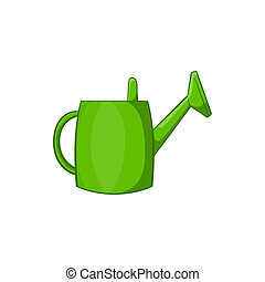 Watering can for garden icon, cartoon style - Watering can...