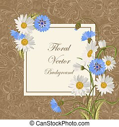 Vintage card with flowers - Beautiful wildflowers for...